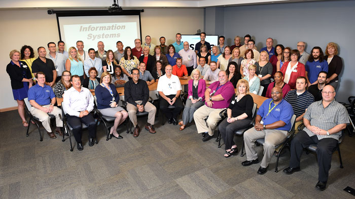 Inspira Health Network's Information Systems team pose for a photo, 2015.