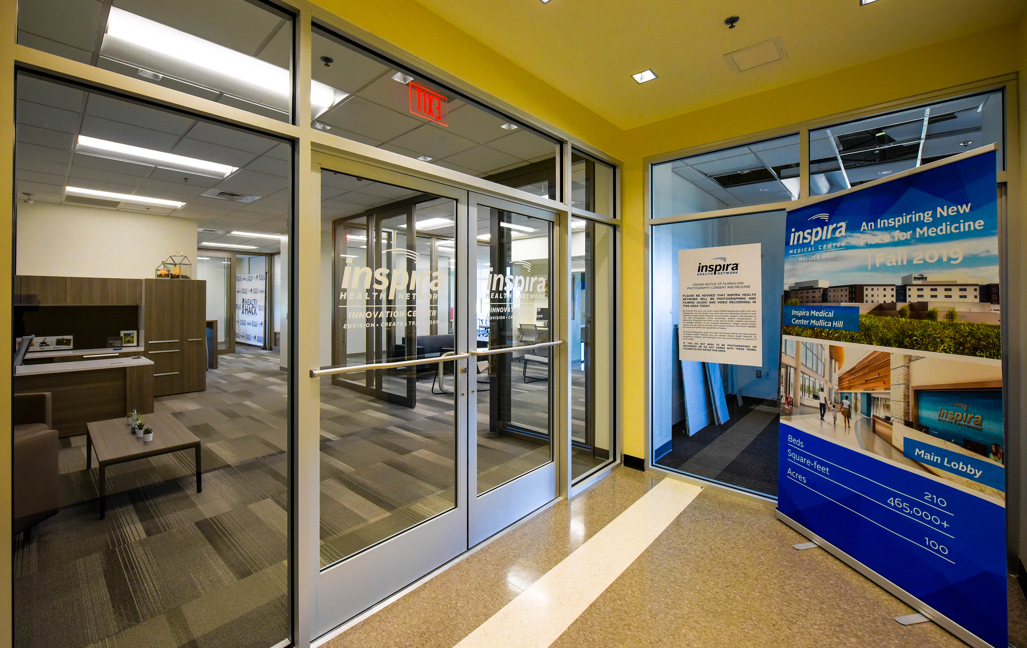 Lobby of Innovation Center at Inspira Mullica Hill