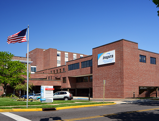 Entrance of Inspira Health Center Bridgeton Location