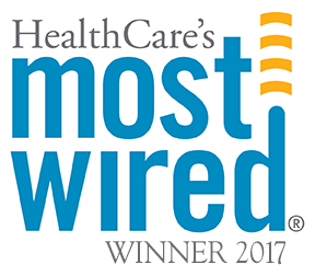HealthCare's Most Wired Winner 2017 logo