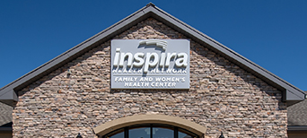 top of an imaging center showing the inspira logo