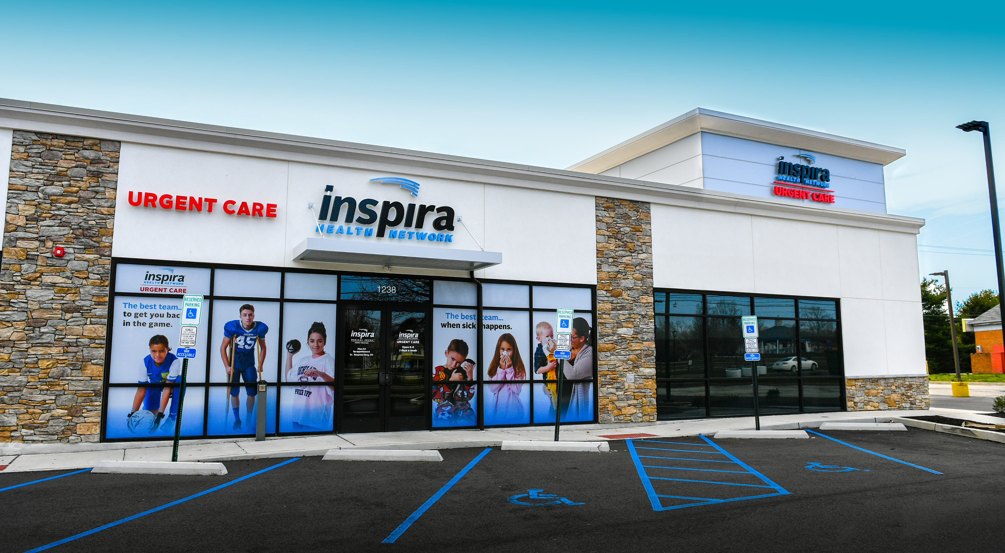Entrance of Inspira Urgent Care Laurel Springs Location