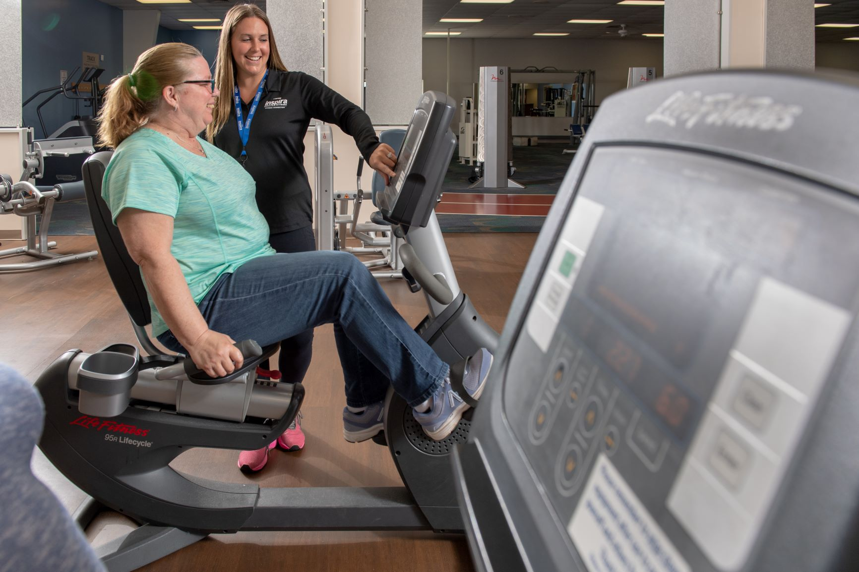 An Inspira Patient and Employee using the Physician Referred Exercise Program