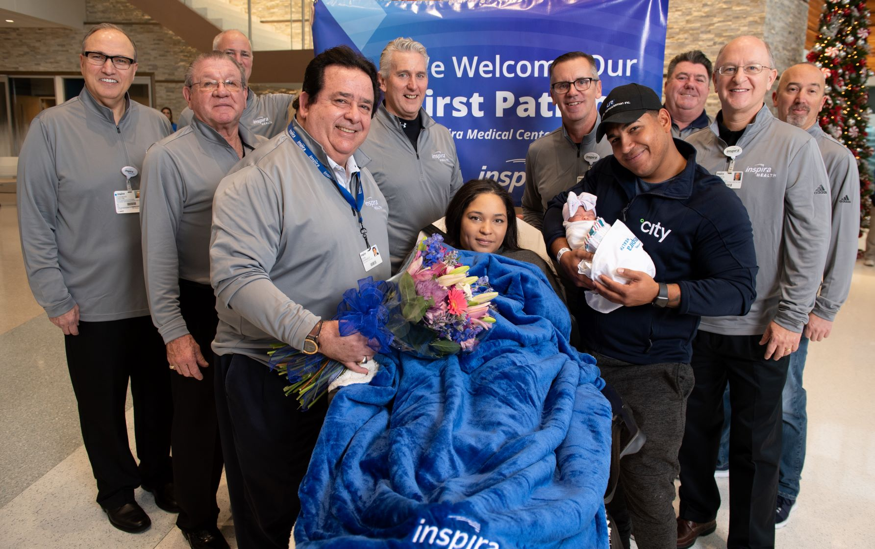 Inspira employees welcoming Mullicas first patient