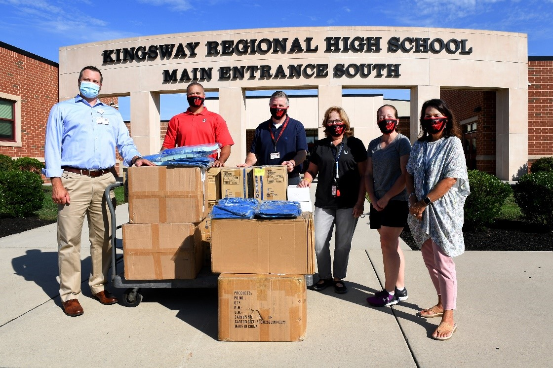 Inspira employees Delivering PPE to Kingsway School District