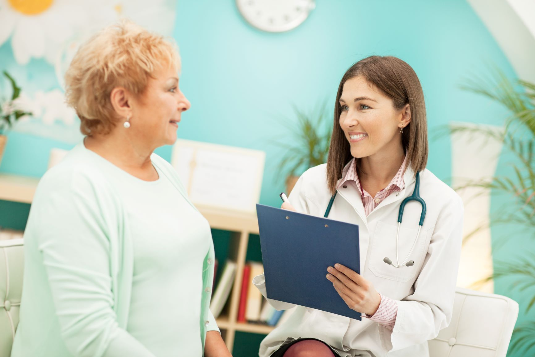 woman and medical provider in a consultation