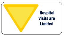 Yellow: Hospital Visits are Limited