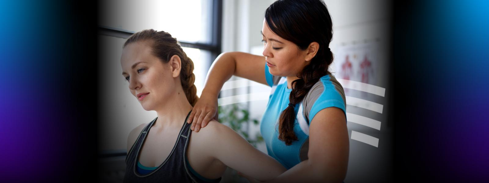 Woman getting therapy for sports injury