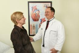 Dr. Kaulbach and a patient