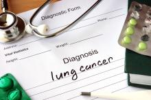 A doctor note signalling a Lung Cancer diagnosis