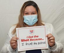 Cathy Vasquez - I got the shot because I trust the science