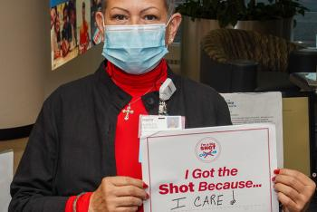 Marilyn Creamer Vaccine Message - I Got the Shot Because I Care.