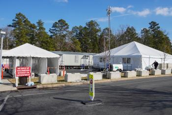 Public COVID Vaccine Tents at Inspira Health